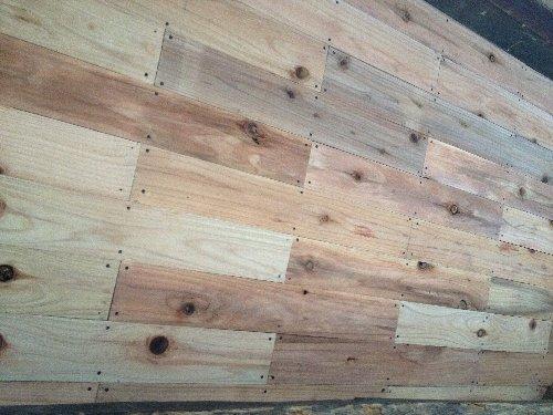 南側の垂木したの杉板張り終える
