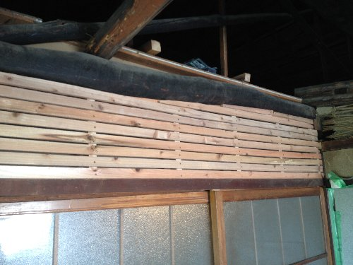 骨組み完成 杉材