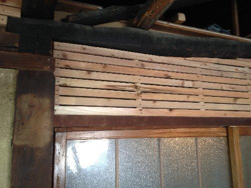 骨組み完成 杉材です